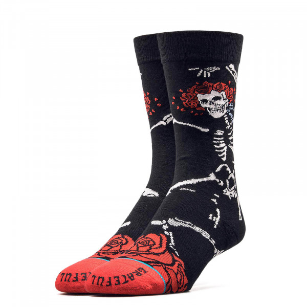 Stance Socks Anthem Dead Head Black Red