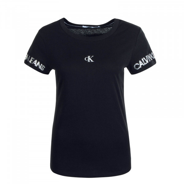 Damen T-Shirt Outline W Logo 4770 Black