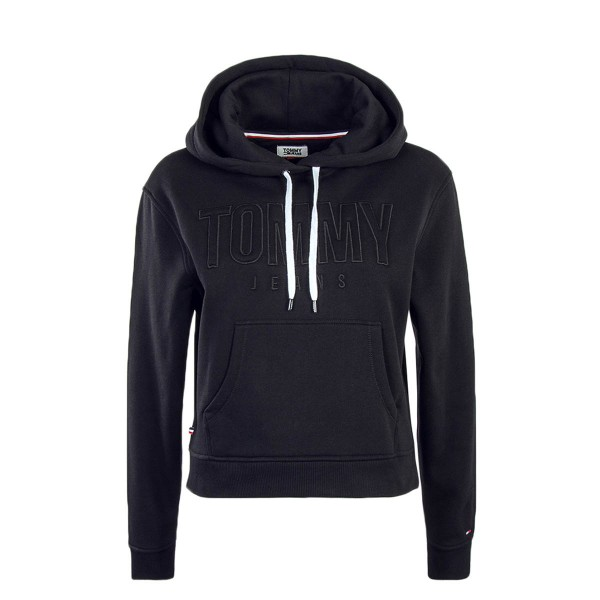 Tommy Wmn Hoody TJW Loose Fit Logo Black