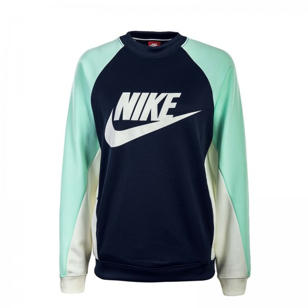 Nike Wmn Sweat NSW CRW Navy Mint Beige