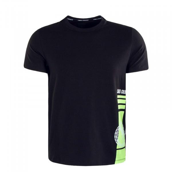 Herren T-Shirt C2334 201 Black White Neon