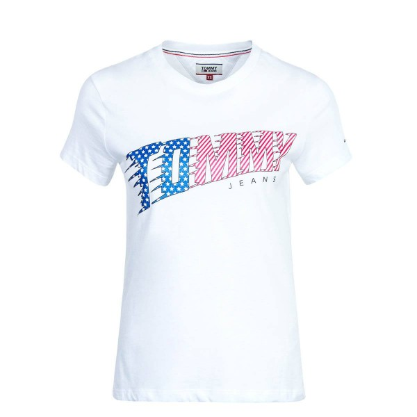 Tommy Wmn TS TJW American Flag White