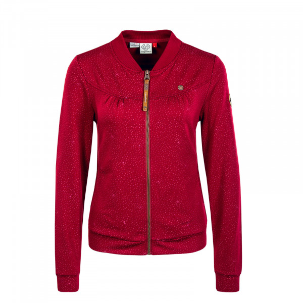 Damen Jacke - Kenia Print - Wine Red