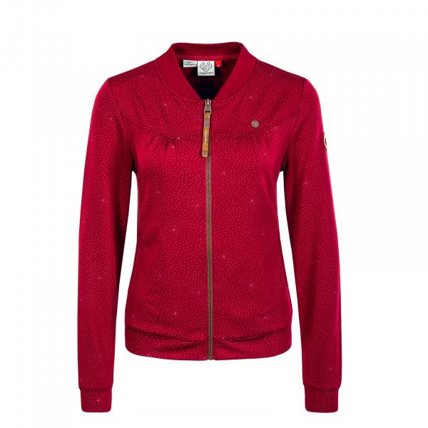 Damen Sweatjacke - Kenia Print - Wine Red