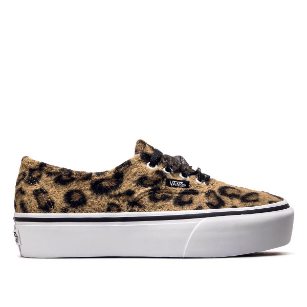 Vans Authentic Plattform Fuzzy Leo Brown