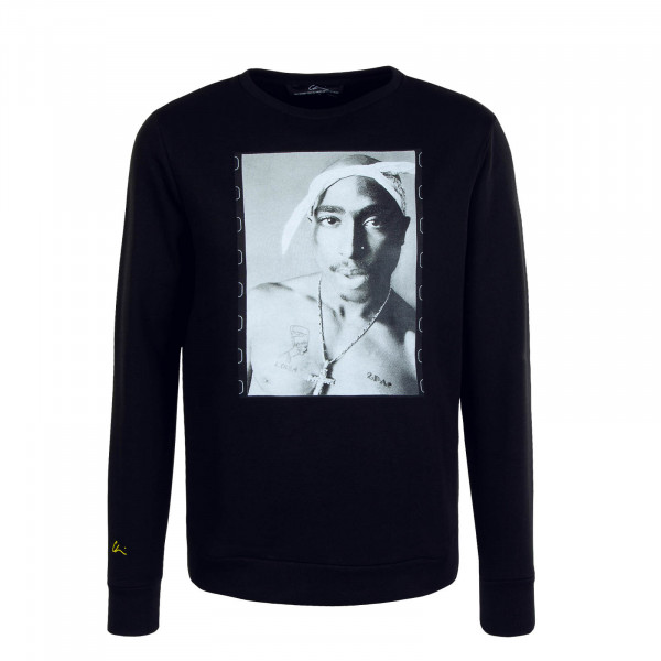 Herren Sweat Crew Pac Film Black Print Black