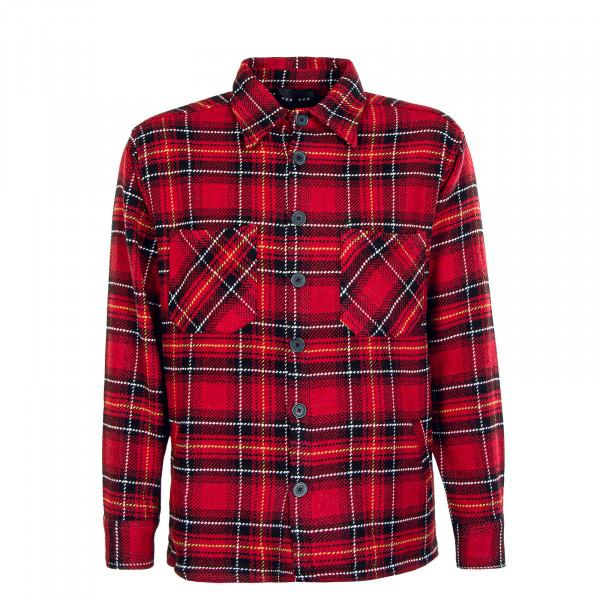 Herren Hemd - Flato Heavy Flannel - Lava Red Black