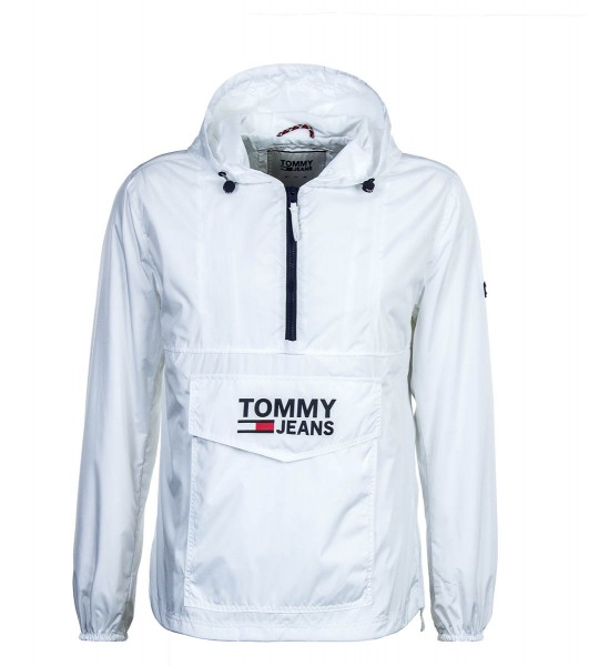 Tommy Jkt Breaker Pop Over White