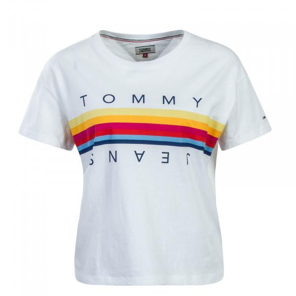 Tommy Wmn TS TJW Multicolor Crop White
