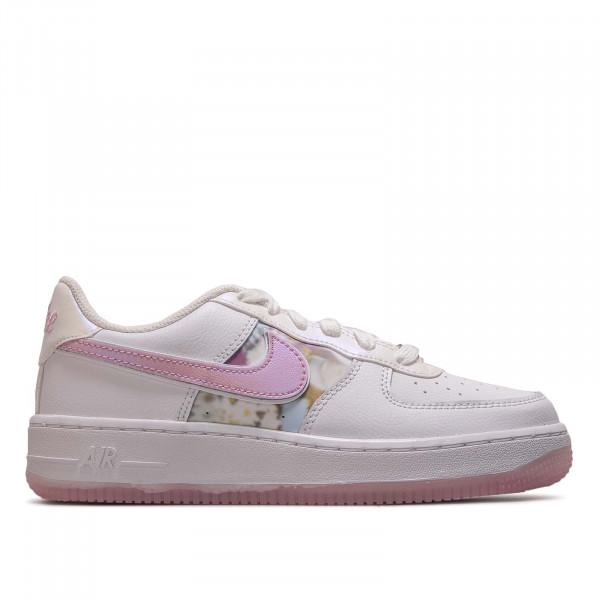 Damen Sneaker Air Force 1 LV8 GS White Arctic Pink Met