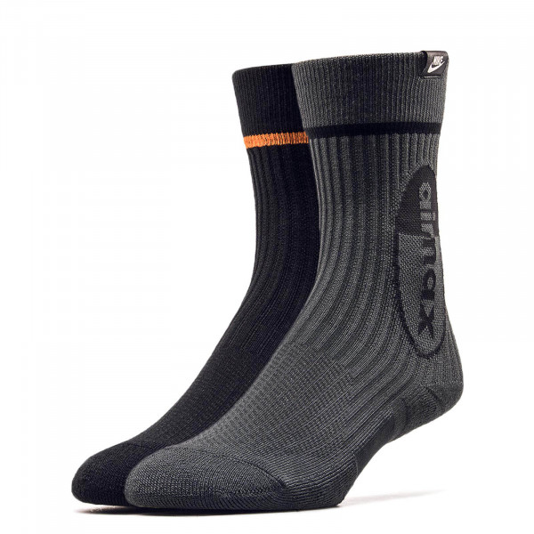 Nike Socks 2Pk Air Max Black Orange