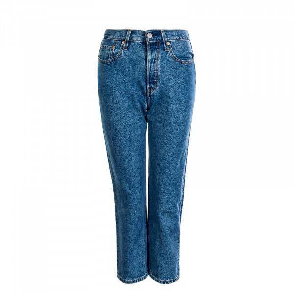 Damen Jeans 501 Crop Lost Cause Blue