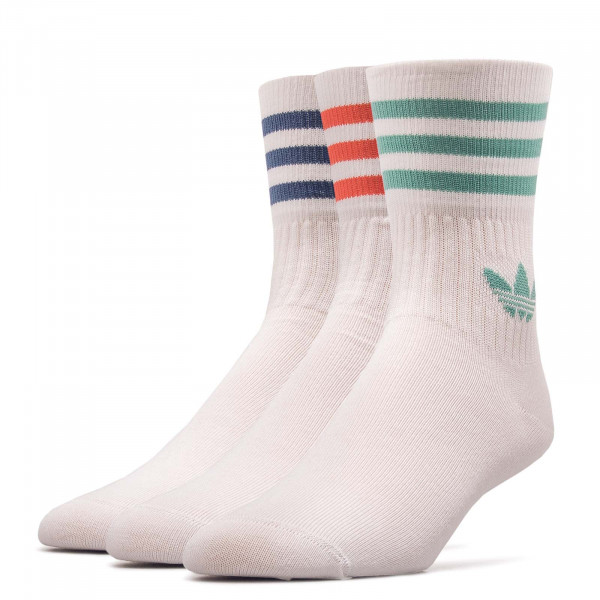 Socken  3er Pack Mid Cut Crew White Red