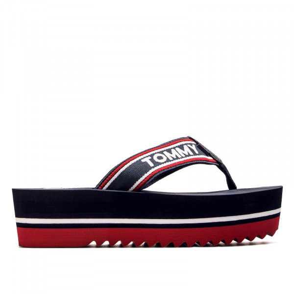Damen Slide Pop Webbing Beach Navy R