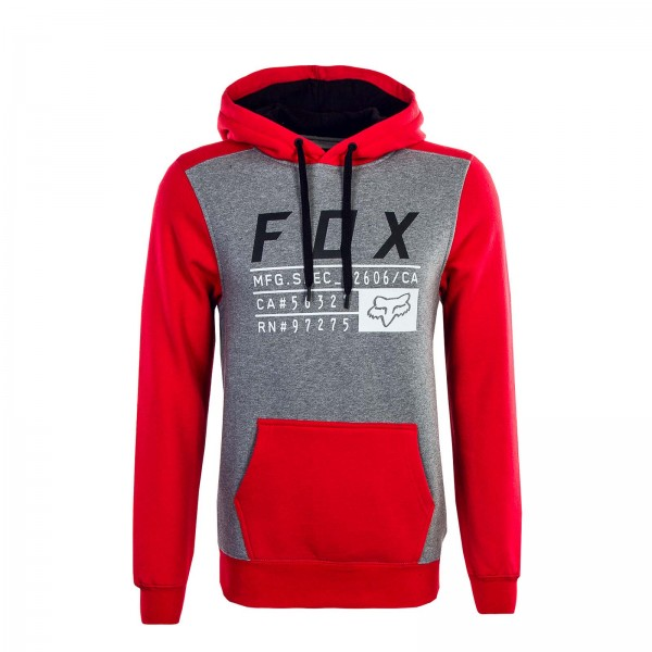 Fox Hoody District 3 Grey Red