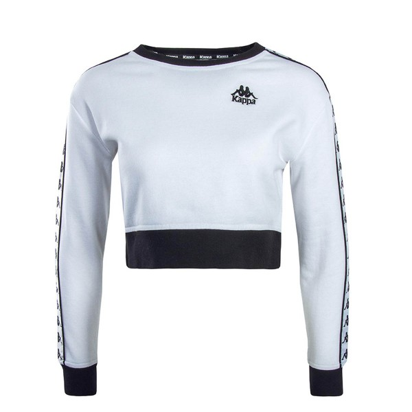 Kappa Sweat Crop Ays White Black