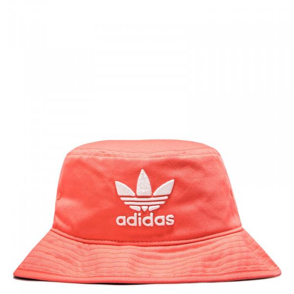Hat Bucket Coral White
