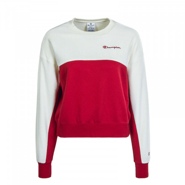 Damen Sweat 113232 Crimson Off White