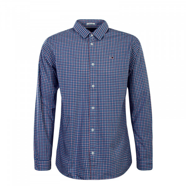 Herren Hemd Essential Multi Blue Red