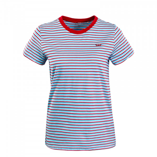 Damen T-Shirt Koronis Baltic Sea Blue Red