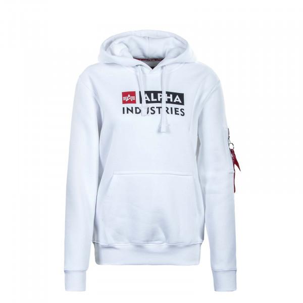 Herren Hoody - Block Logo - White