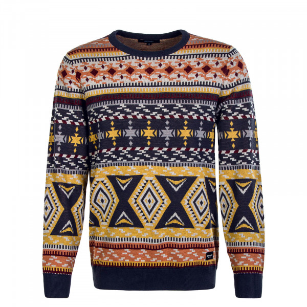 Herren Knit Indio Navy Yellow