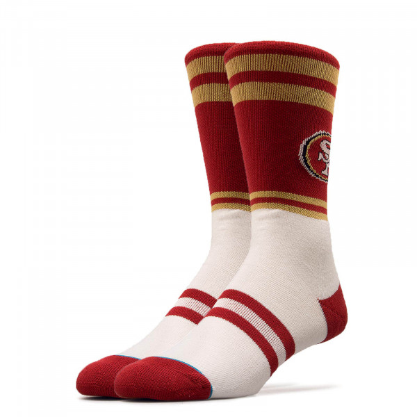Stance Socks 49ers Logo Red White