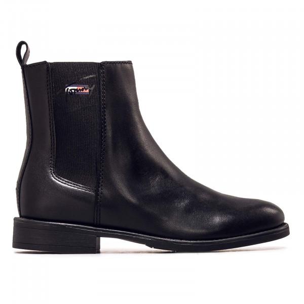 Damen Boots - Essentials Leather Flat - Black
