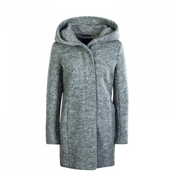 Damen Mantel Wool Sedona Boucle Grey