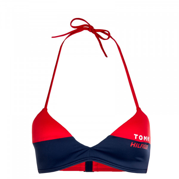 Damen Bikini Fixed Triangle RP 2076 Red Navy