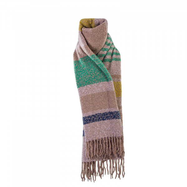 Only Scarf Dharma Weaved Stripe Rose