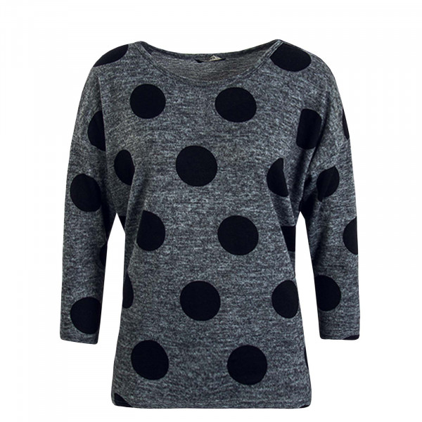 Damen Longsleeve Elcos 4/5 Dots Dark Grey