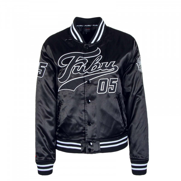 Damen Jacke Varsity Black White