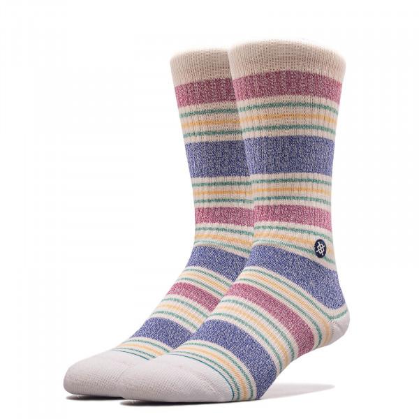Unisex Socken Leslee White Multi Stripe