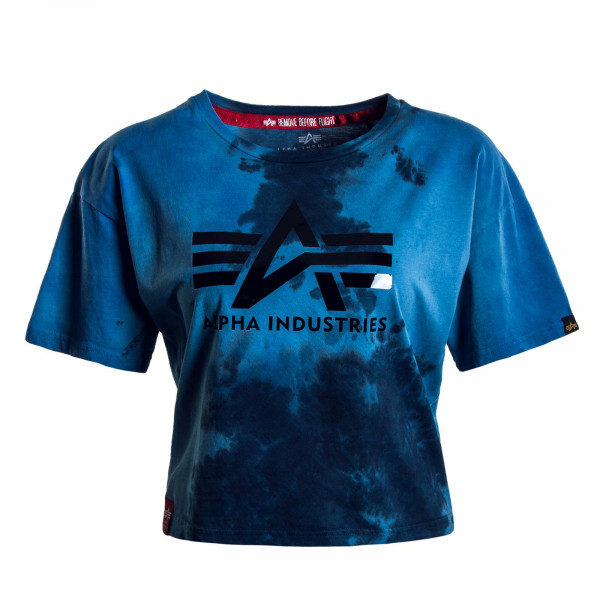 Damen T-Shirt - Big A Batik - Blue / Batic