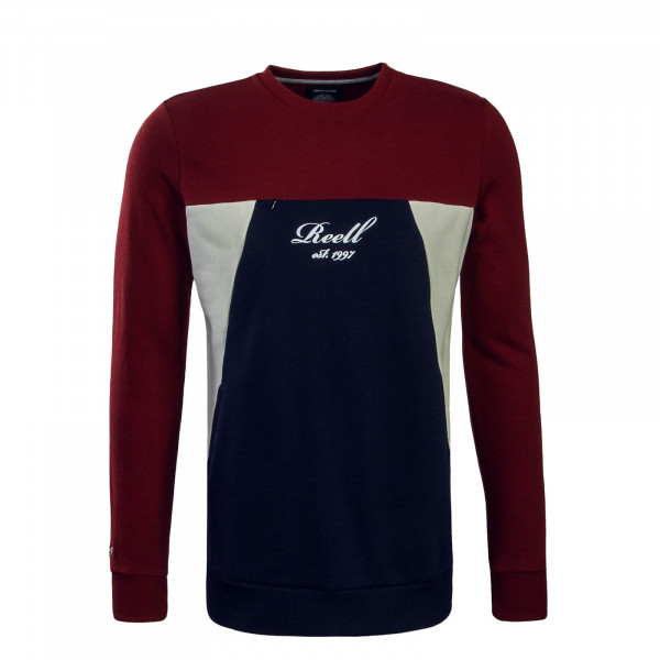Herren Sweat Colorblock Red Navy Cream