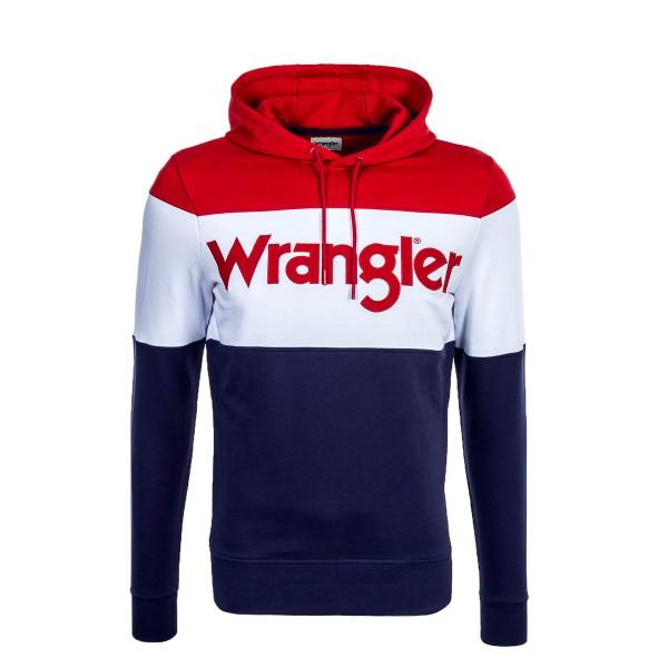 Wrangler Hoody Peacoat Blue White Red