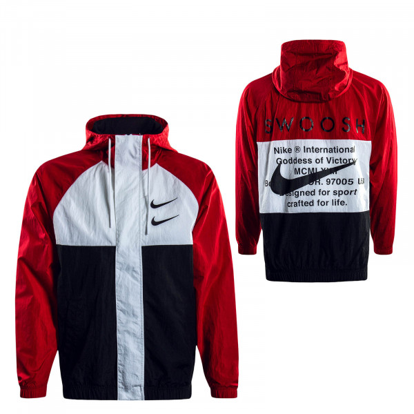 Herrenjacke Swoosh 4888 Red Black White