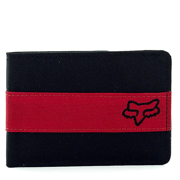 Fox Wallet Sturgis Bifold Black Red