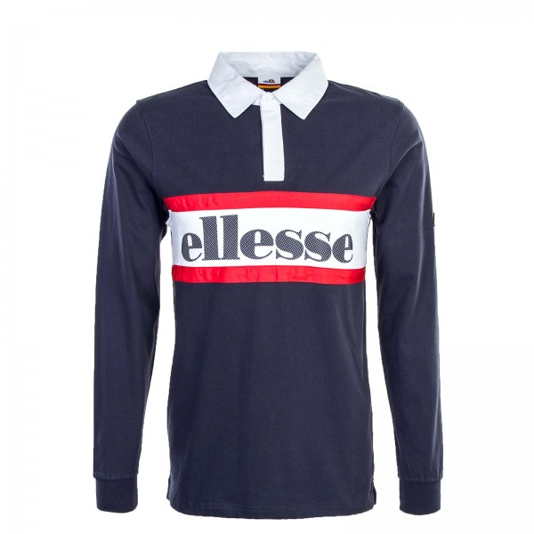 Ellesse LS Polo Borsotti Rugby Navy Red