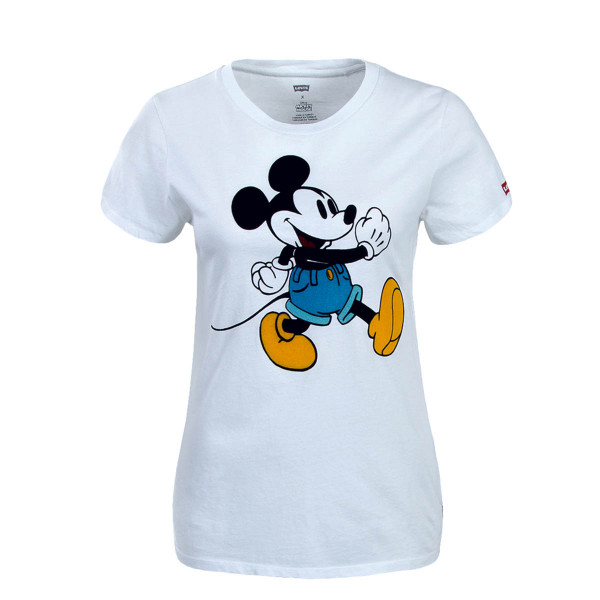 Levis Wmn TS Perfect WalkingMickey White