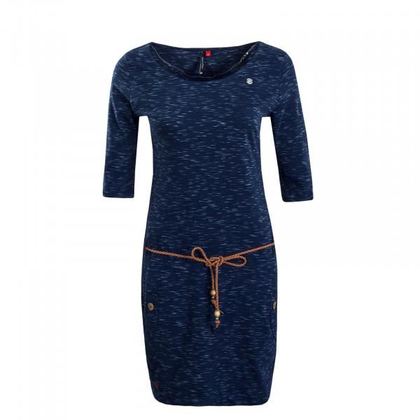 Damen Kleid Tanya Slub Indigo