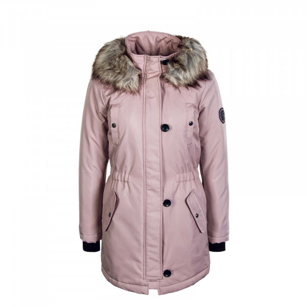 Damen Mantel Iris Fur Winter Parka Rose Dust