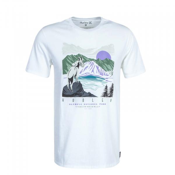 Herren T-Shirt Pendleton Crater Lake Off White