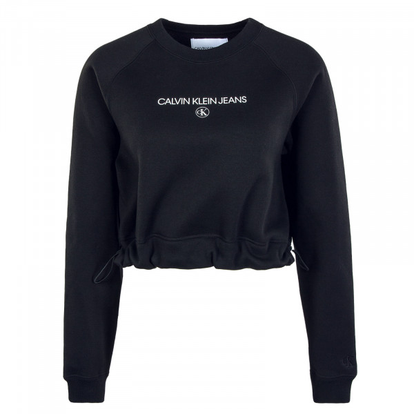 Damen Sweatshirt Cropped Black