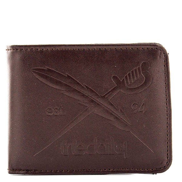 Iriedaily Wallet Flag Punch Chocolate