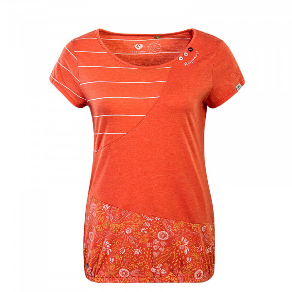 Damen T-Shirt Taby Block Coral