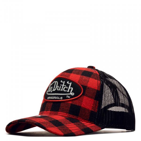 Trucker Cap - Flannel Check - Red / Black