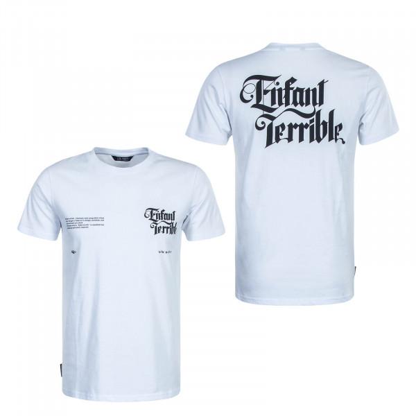 Herren T-Shirt Enfant Terrible White