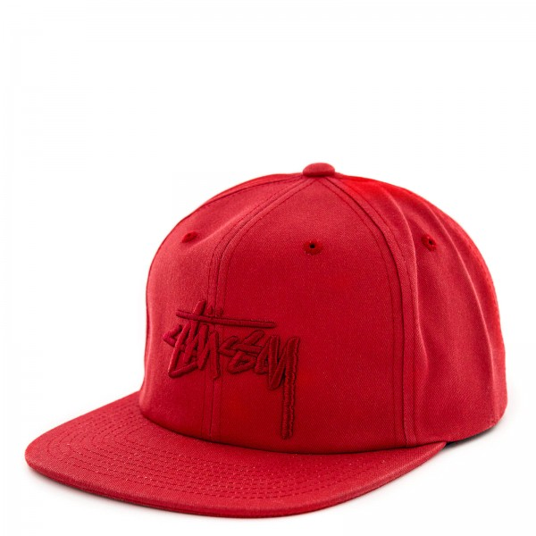 Stüssy Cap Stock Pigment Red